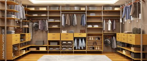 Fotomural  Modern closet