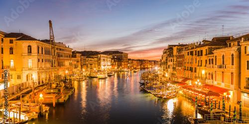 Poster Madrid Venice at dusk - Italy