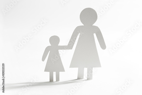 Fotografie, Obraz  Single mother with daughter