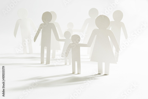 Fotografie, Obraz  Group of people with children
