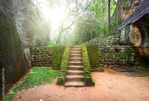 Poster de jardin Ruine Staircase on Sigiriya