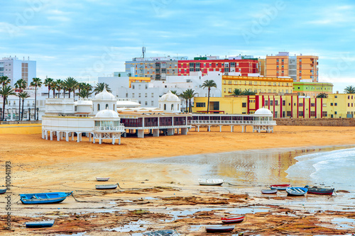 La Caleta Beach in Cadiz, Spain
