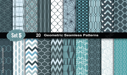 Recess Fitting Pattern Geometric Seamless Patterns., pattern swatches included for illustrator user, pattern swatches included in file, for your convenient use.
