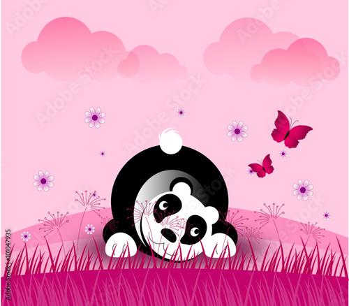 Fototapeta Romantic panda bear
