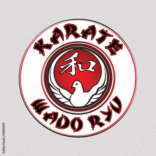 logo wado ryu karate Wallpaper Mural