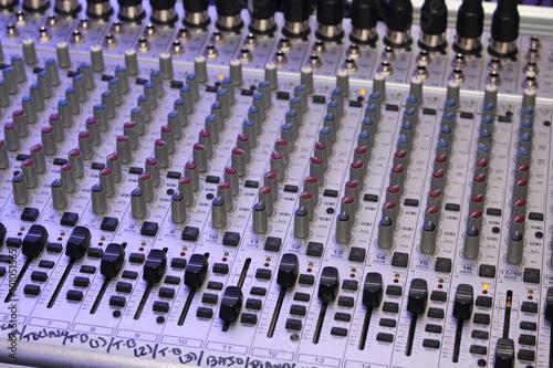 Fotografie, Obraz  mixing console