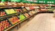 canvas print picture - Gemüse Obst im Supermarkt