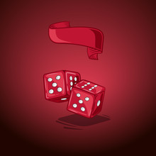 Vector Illustration Two Dice. ...