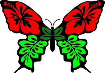 Fototapetabutterfly flower