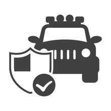 Car Insurance Shield Black Sim...
