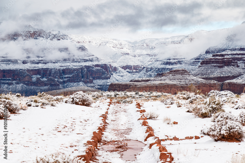 South Kaibab Trail in Snow
