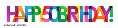 "Fotomural ""HAPPY 50th BIRTHDAY"" Card"