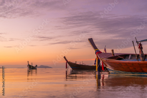 Beautiful sunrise in Rawai Phuket island Thailand