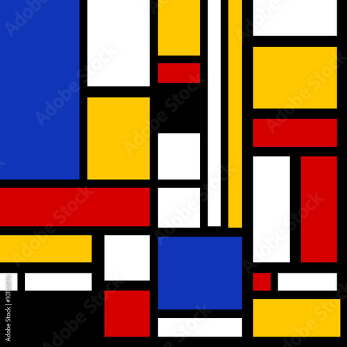 Photo  Abstract geometric pop pattern vector