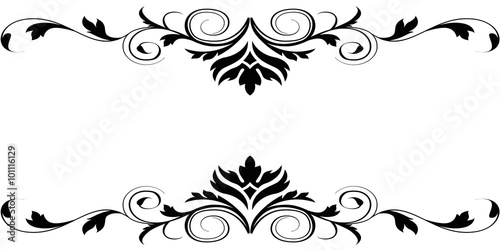 Black White Floral Borders Design Buy This Stock Illustration And