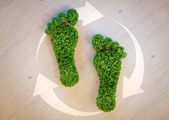 Panel Szklany Do biura Green footprint concept