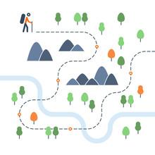 Hiking Map, Sport Orienteering...