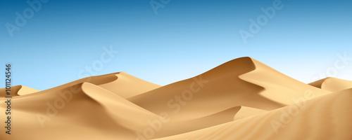Canvas Print Paysage : désert vectoriel 1