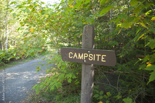 Poster Camping Campsite sign in northern Minnesota