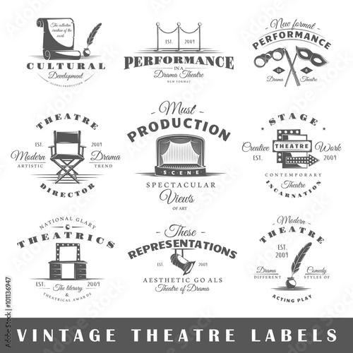 Fotografía  Set of theatre labels