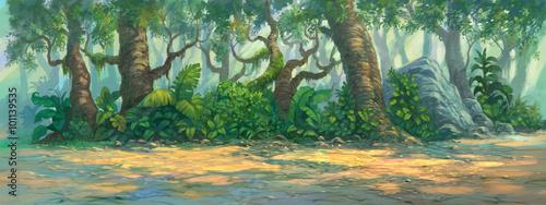 malowanie-tla-lasu