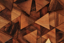 Wooden Triangle Background