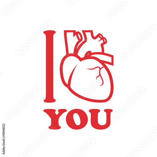 """I love you"" with human heart Poster"