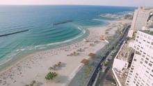 Aerial View Of Tel Aviv Beach