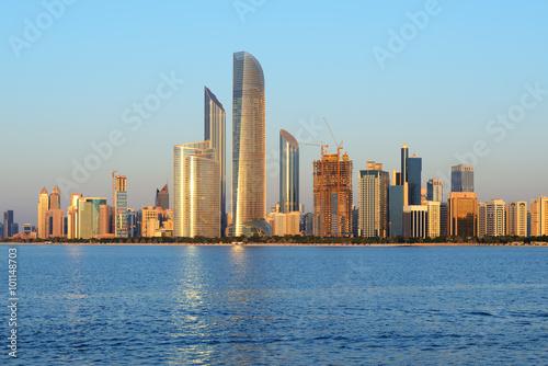 Poster Abou Dabi Abu Dhabi cityline at sunset