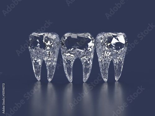 Canvas Print diamond teeth