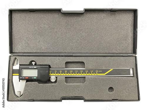 Foto op Aluminium Digital calliper in plastic box