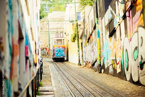 Spoed Foto op Canvas Mediterraans Europa tram, Porto, Portugal