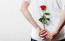 Man With Single Red Rose