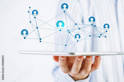 Fotografie, Obraz  Social network structure as concept