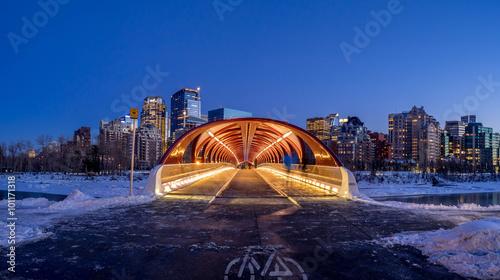 Spoed Foto op Canvas Canada Calgary skyline in winter.