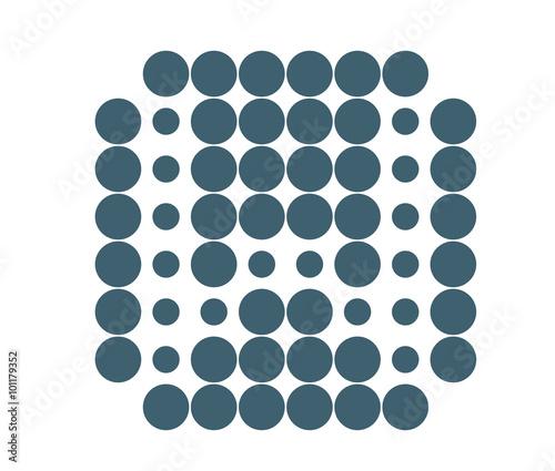 W Logo Template Dot Matrix Vector Style