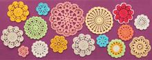 The Wonderful Colored Crochet Doilies