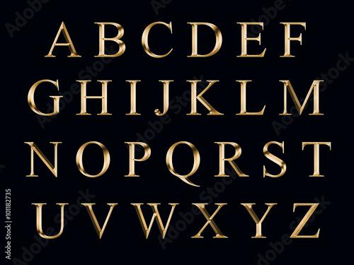 Fotografie, Obraz  golden alphabet