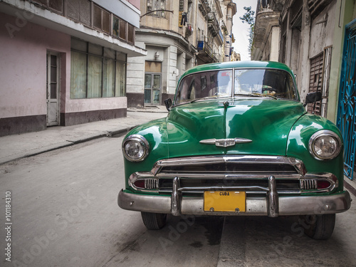 Türaufkleber Autos aus Kuba Old car in Havana