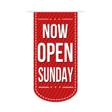 Now Open Sunday Banner Design
