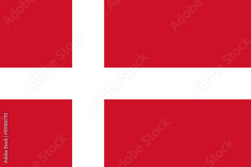 National flag of Denmark Wallpaper Mural