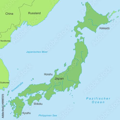 Japan Karte.Karte Von Japan Grün Buy This Stock Vector And Explore Similar