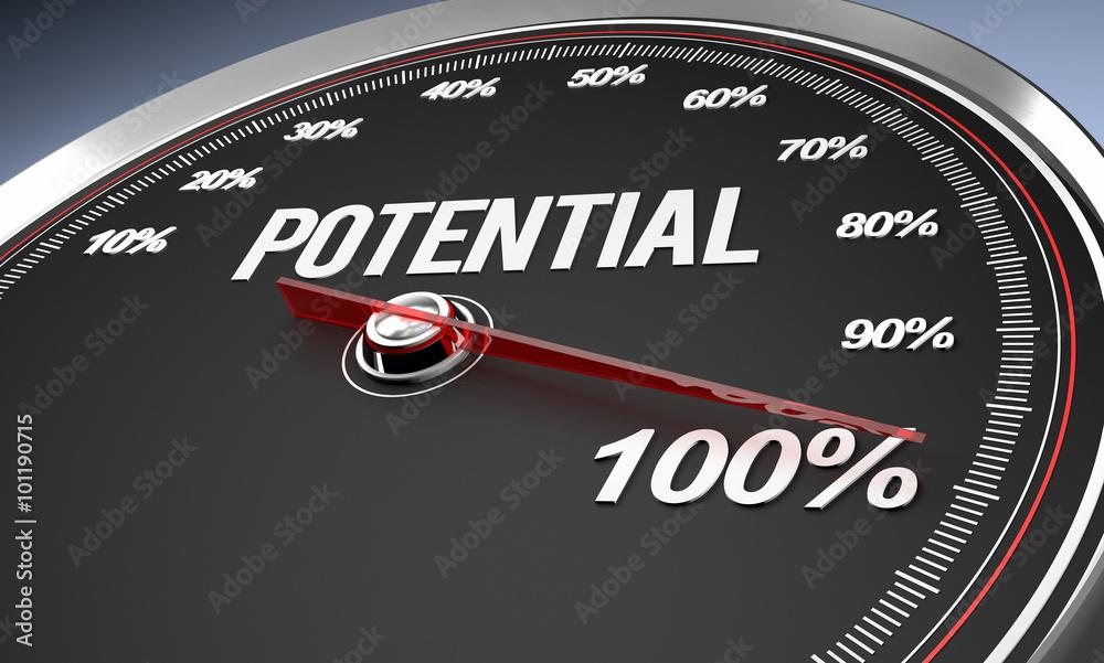 Fototapeta Potential 100%