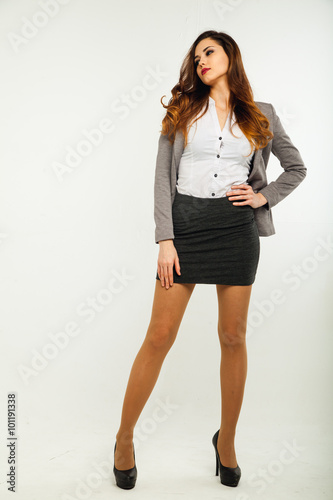 Fotografie, Obraz  Businesswoman portrait full length
