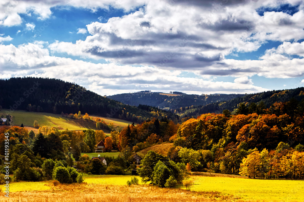 Fototapety, obrazy: Sudety Range in Southern Poland