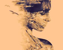 Double Exposure Portrait Of Yo...
