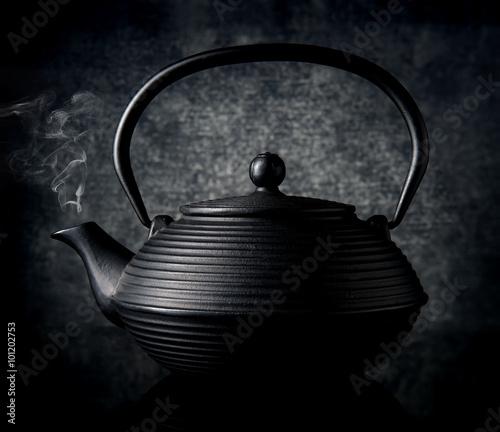 Black chinese teapot Canvas Print