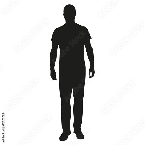 Fototapeta Man standing silhouette obraz