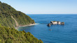 panoramic view from the Knights Point Lookout, Tasman Sea, South island New Zealand