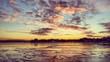 tramonto sul mare ghiacciato